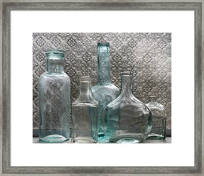 Framed Print featuring the photograph Glass Bottles 1 by Jocelyn Friis