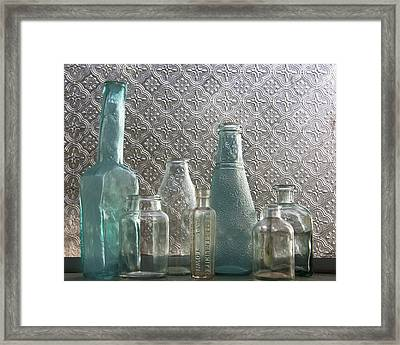 Framed Print featuring the photograph Glass Bottles 2 by Jocelyn Friis