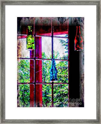 Glass Bottles Framed Print by Kathleen Struckle