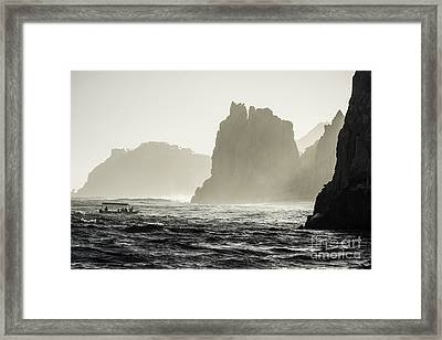 Glass Bottom Boat Framed Print by Richard Mason