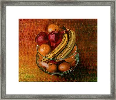 Glass Bowl Of Fruit Framed Print by Sean Connolly