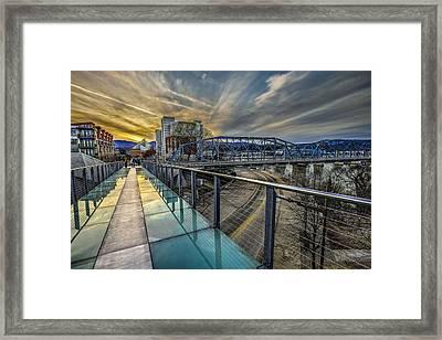 Glass Bridge Framed Print by Brett Engle