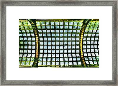 Glass Ceiling In Paris Court - Hungary - Budapest Framed Print by Marianna Mills
