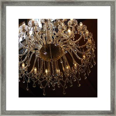 Framed Print featuring the photograph Glass Chandelier by Jocelyn Friis