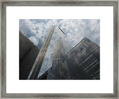 Framed Print featuring the photograph Glass Clouds by Glenn DiPaola