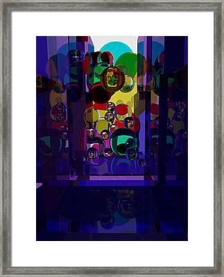 Glass Corridor Framed Print
