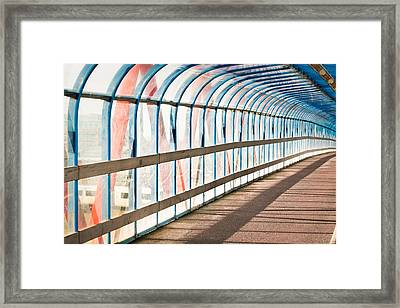 Glass Covered Walkway Framed Print by Tom Gowanlock