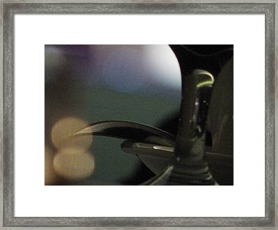 Glass Creating Decorative Form Framed Print by Mieczyslaw Rudek Mietko