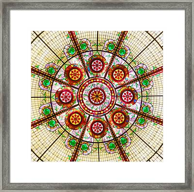 Glass Dome Framed Print by Val Miller