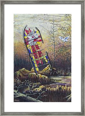 Glass Dove Framed Print