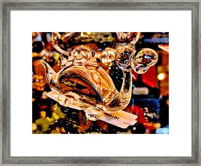 Glass Dragon.  Framed Print by Andy Za