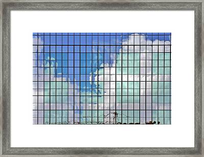 Glass Facade Houston Tx Framed Print by Christine Till