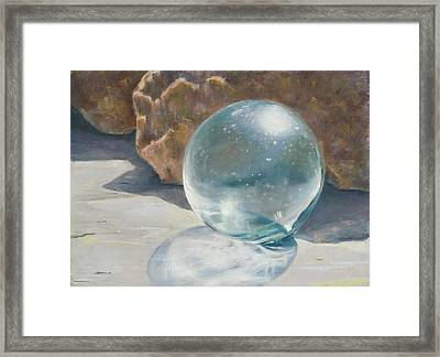 Glass Float Framed Print