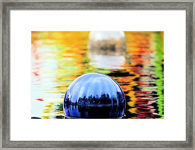Framed Print featuring the photograph Glass Floats by Elizabeth Budd