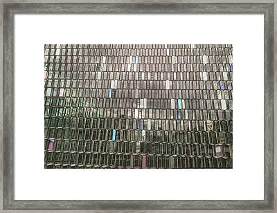 Glass Front Exterior Of Harpa Concert Framed Print by Mel Longhurst