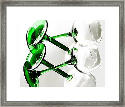 Glass Glow Framed Print by Camille Lopez