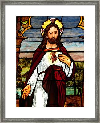 Glass God Framed Print