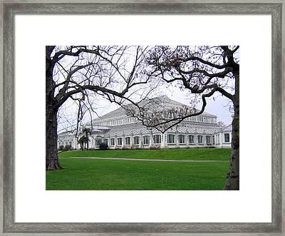 Glass House At Kew Gardens Framed Print