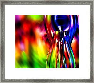 Glass In Motion Framed Print