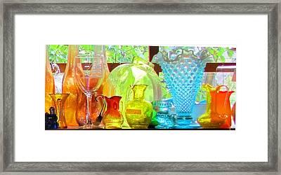 Glass In Sunlight Framed Print by Jeanne Porter