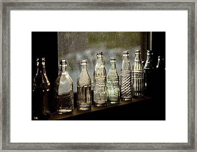 Glass In The Window 4 Framed Print