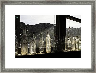 Framed Print featuring the photograph Glass In The Window  by James Sage