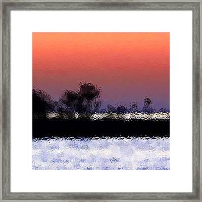 Glass Island Framed Print by Gayle Price Thomas