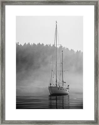 Glass Lady In The Fog Framed Print