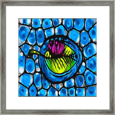 Glass Lilly Framed Print by Josephine Ring