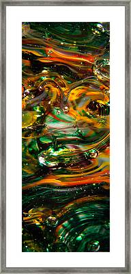 Glass Macro Abstract Ego1 Framed Print by David Patterson
