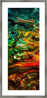 Glass Macro Abstract Ego1ce Framed Print by David Patterson