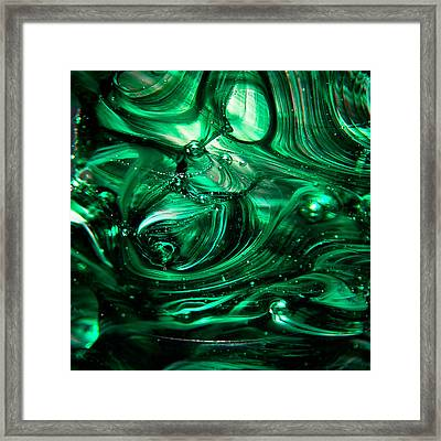 Glass Macro Abstract Egw2 Framed Print by David Patterson