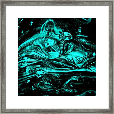 Glass Macro Abstract Rbwce2 Framed Print by David Patterson