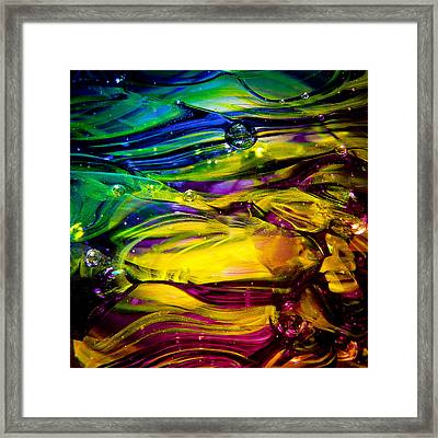 Glass Macro Abstract Rcy1 Framed Print by David Patterson