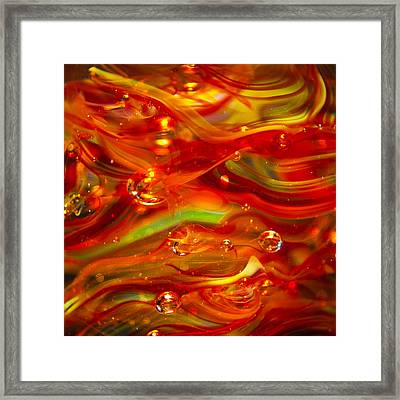 Glass Macro Abstract Rf1 Framed Print by David Patterson