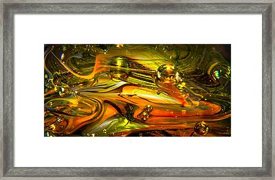 Glass Macro Abstract Rgo1 Framed Print by David Patterson