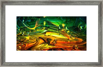 Glass Macro Abstract Rgo1ce2 Framed Print by David Patterson