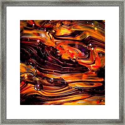 Glass Macro Abstract Rpo Framed Print by David Patterson