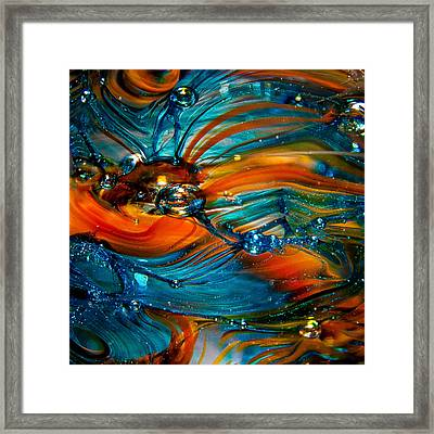 Glass Macro Abstract Rto Framed Print by David Patterson