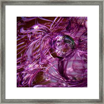 Glass Macro - Deep Pinks Framed Print by David Patterson
