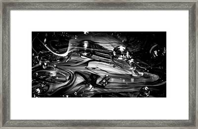 Glass Macro Rgo1ce Framed Print by David Patterson