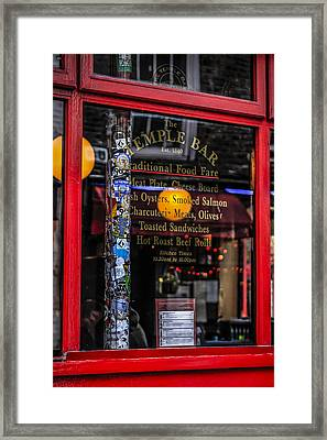Glass Menu Framed Print by Chris Smith