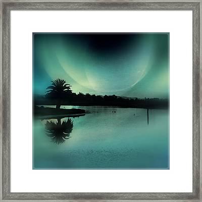 Glass Moon Framed Print