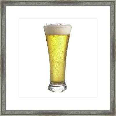 Glass Of Beer Framed Print by Science Photo Library