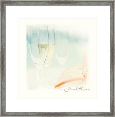 Glass Of Champagne. Elegant Knickknacks From Jennyrainbow Framed Print by Jenny Rainbow