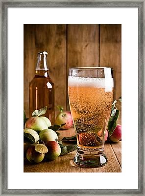 Glass Of Cyder Framed Print by Amanda Elwell