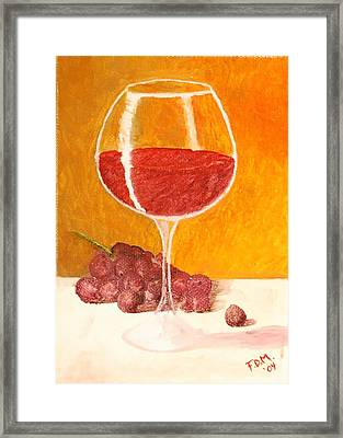 Glass Of Grapes Framed Print