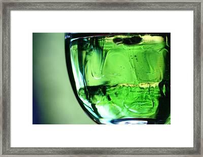 Glass Of Green Framed Print