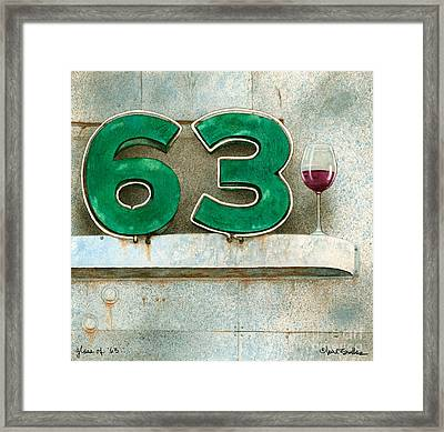 Glass Of Sixty Three... Framed Print