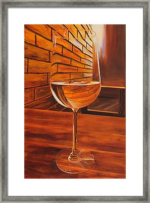 Glass Of Viognier Framed Print